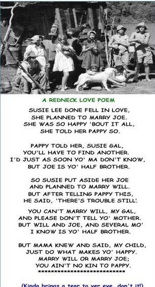 A Redneck Love Poem