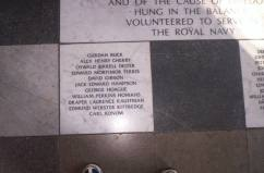 Plaque in Painted Hall Greenwich, pic taken 21st Oct 2005