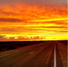 Dusk in 'The Outback'