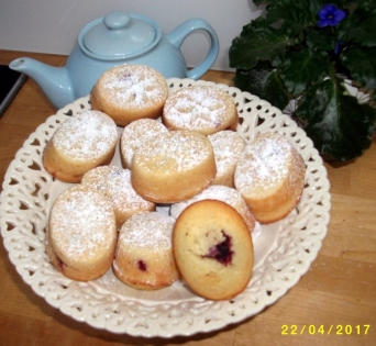 Lime Zest & Raspberry Friands