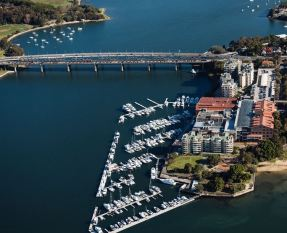 The Iron Cove Cove Bridge.