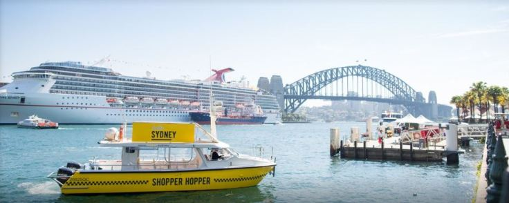 "From the City to the point what better way to go than by the ""Shopper Hopper""; All aboard!"