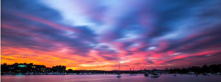 ..............as the sunsets over Iron Cove