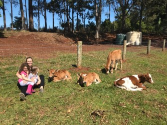 The lady who rescued the animals, and found a home with granddaughters for them