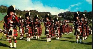 The Pipe Band Of The 1St Battalion Of The Scots Guards